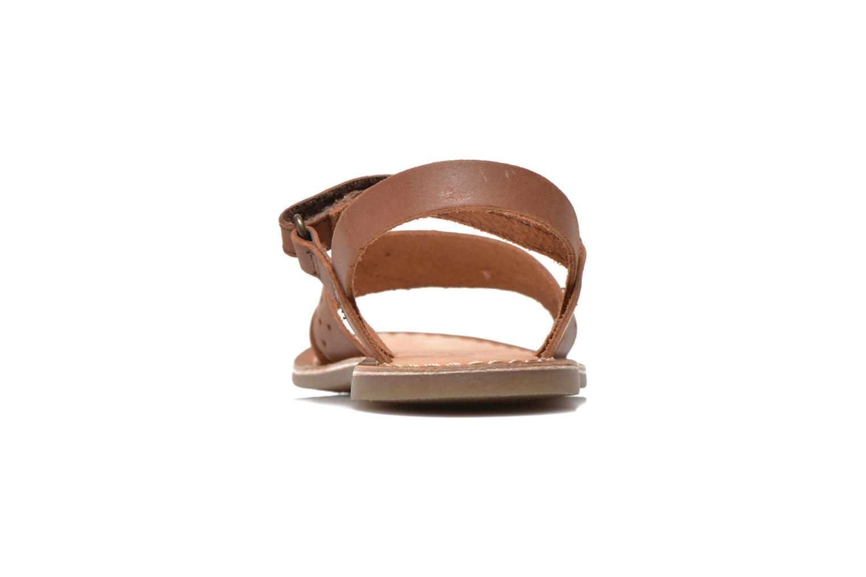 Sandales et nu-pieds Kickers Dix Beige vue droite