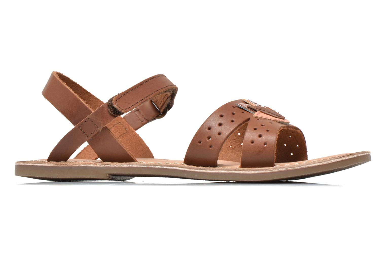 Sandales et nu-pieds Kickers Dix Beige vue derrière