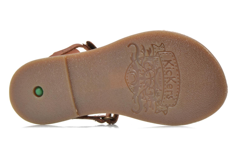 Sandales et nu-pieds Kickers Dix Beige vue haut