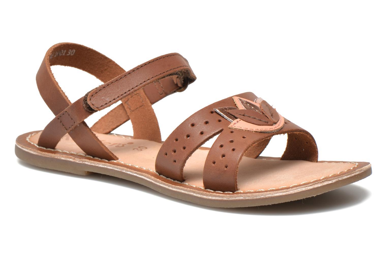 Sandales et nu-pieds Kickers Dix Beige vue détail/paire