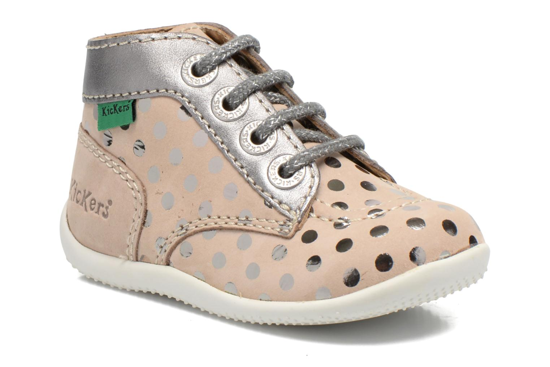 Bottines et boots Kickers Bonbig Beige vue détail/paire