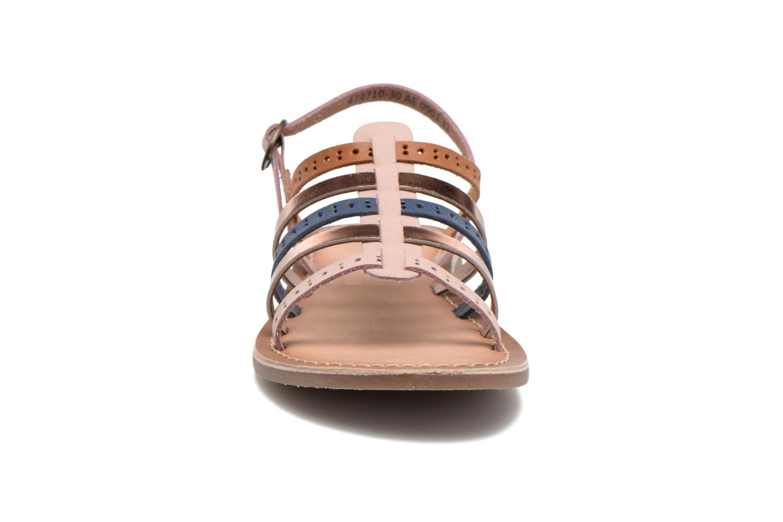 Sandales et nu-pieds Kickers Dixmillion Perf Rose vue portées chaussures