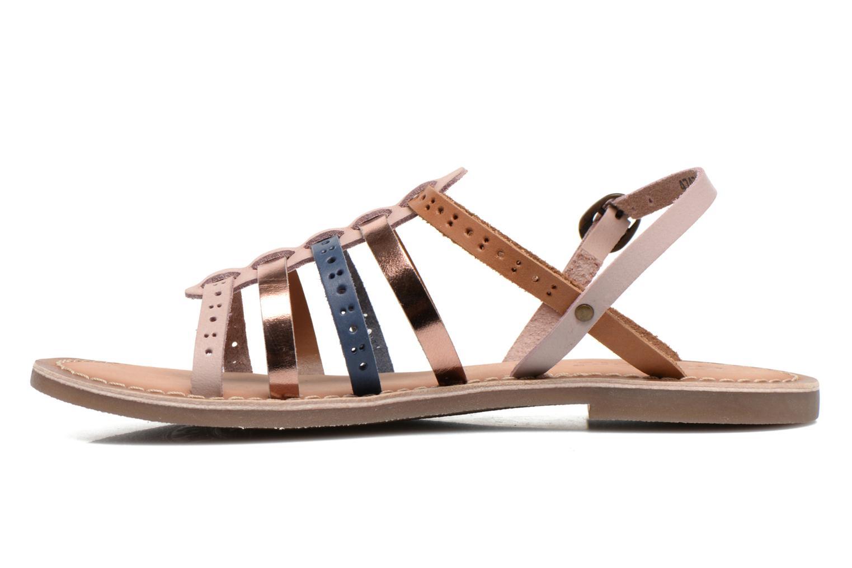 Sandales et nu-pieds Kickers Dixmillion Perf Rose vue face