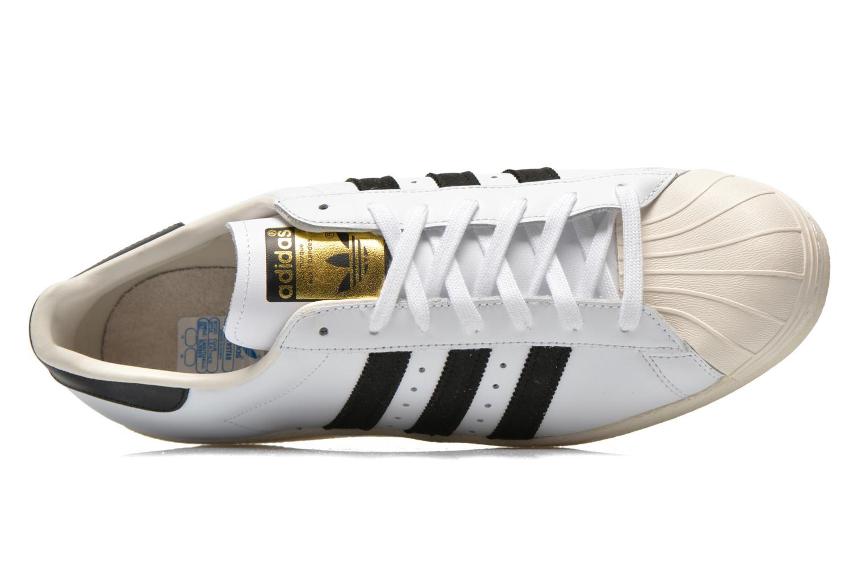Baskets Adidas Originals Superstar 80S Blanc vue gauche