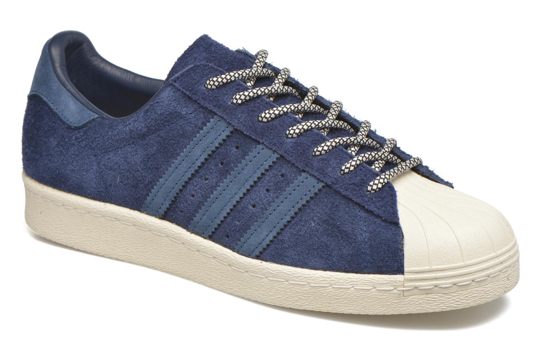 Baskets Adidas Originals Superstar 80S Bleu vue détail/paire