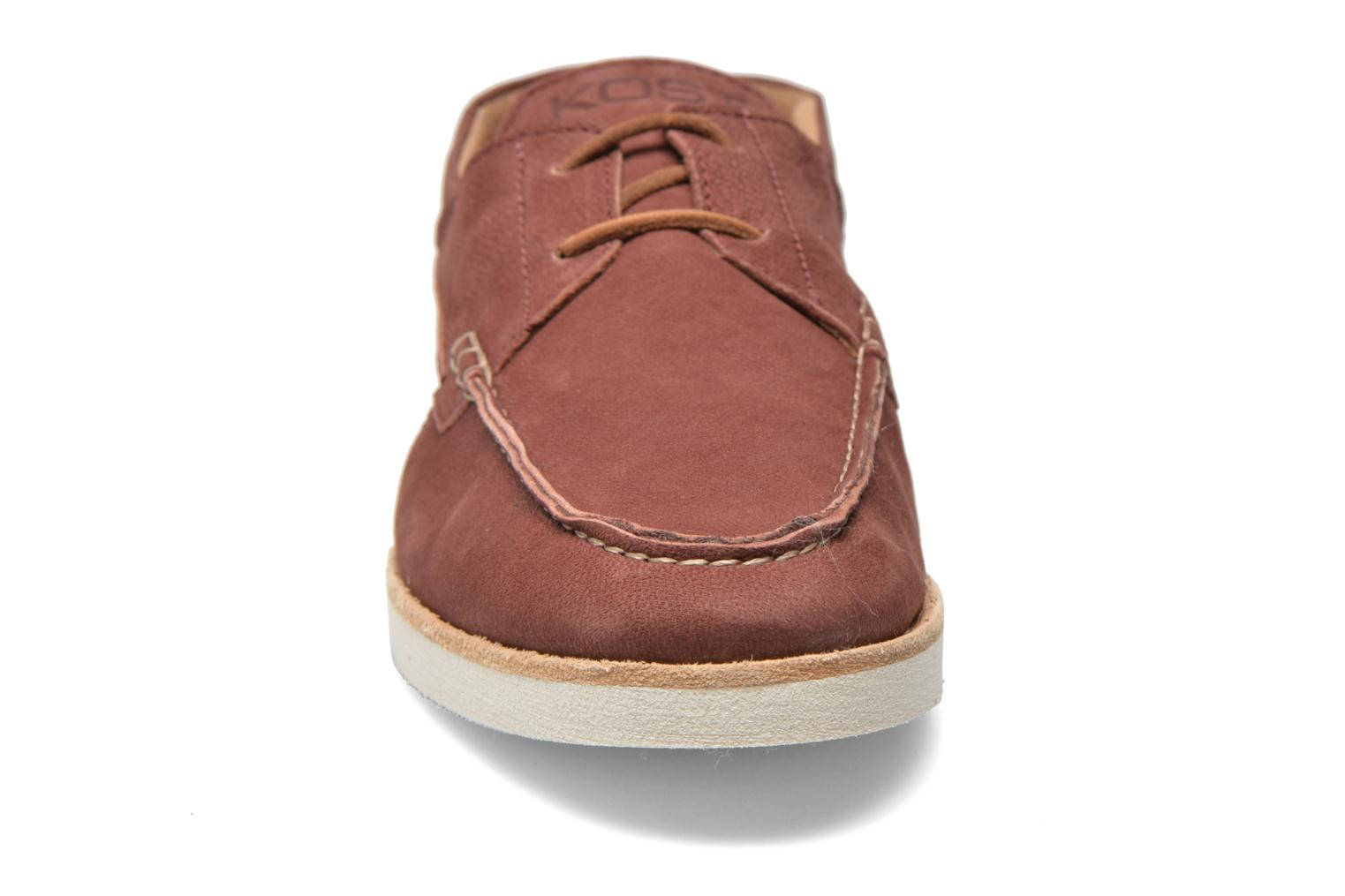 Lace-up shoes Kost Errol Burgundy model view