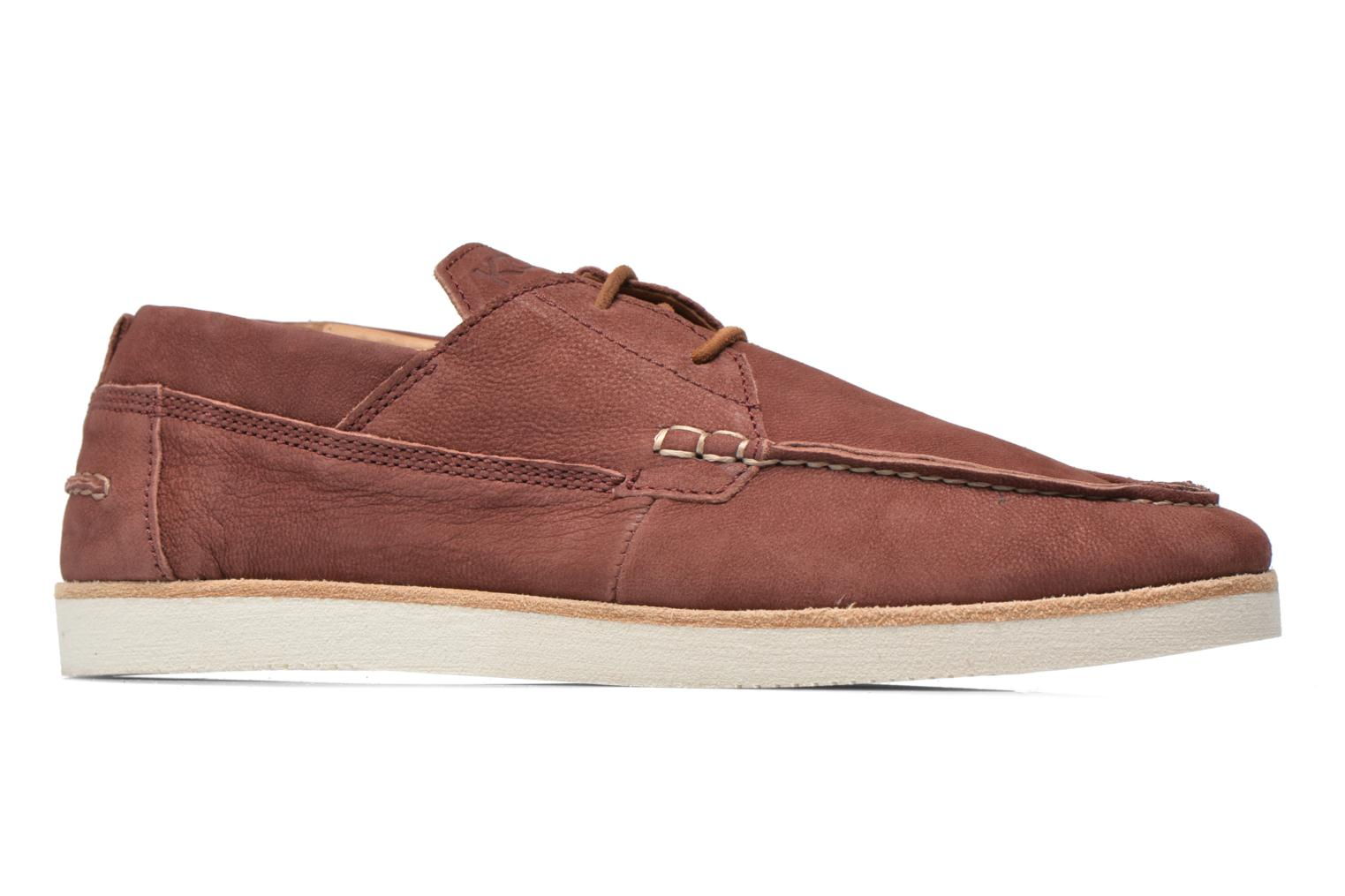 Lace-up shoes Kost Errol Burgundy back view