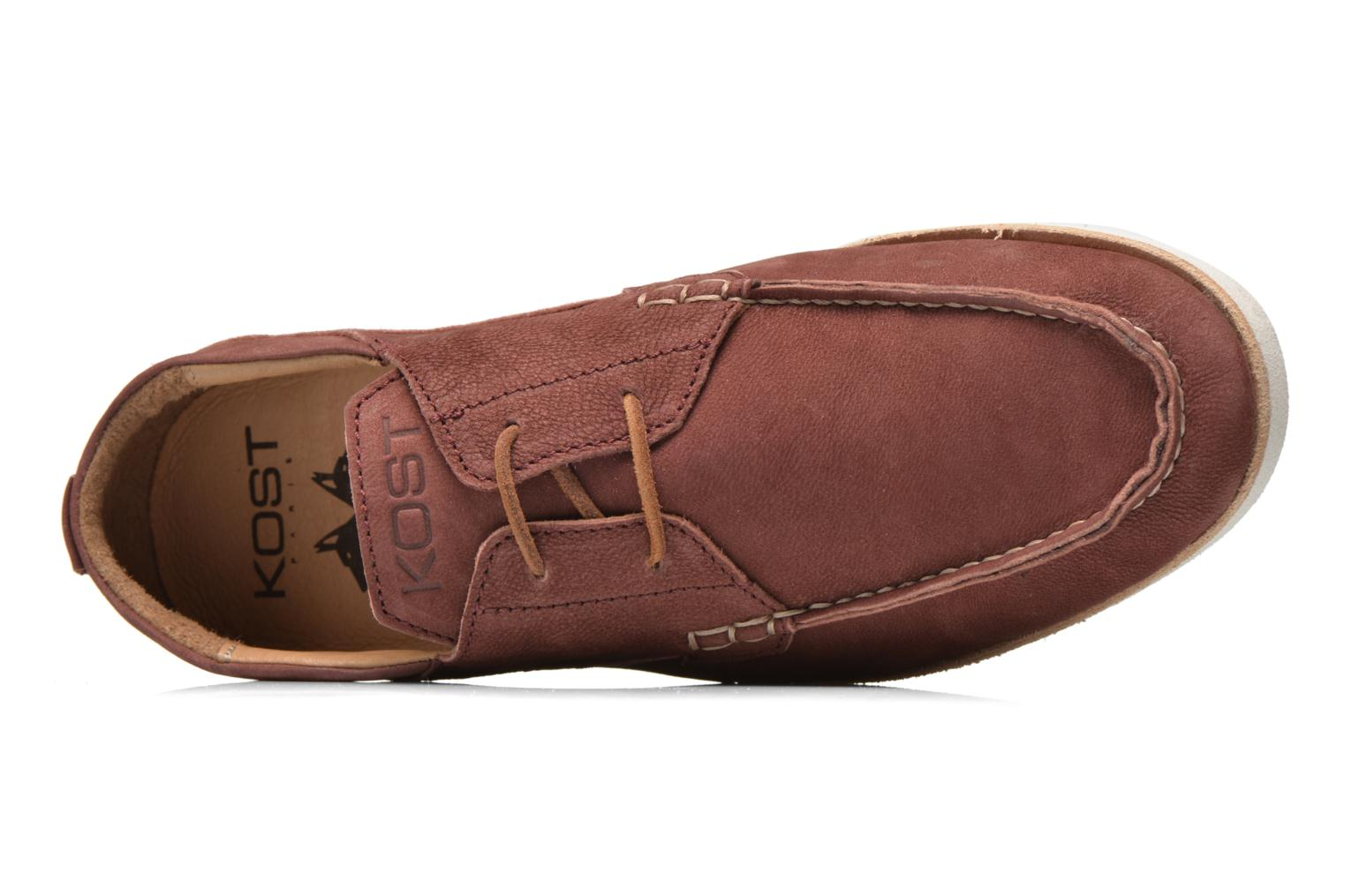 Lace-up shoes Kost Errol Burgundy view from the left