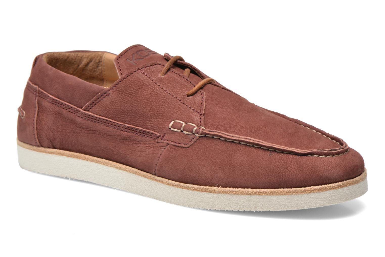 Chaussures à lacets Kost Errol Bordeaux vue détail/paire