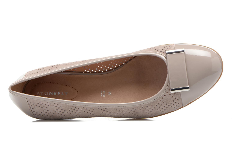 Zapatos de tacón Stonefly Maggie II 2 Beige vista lateral izquierda
