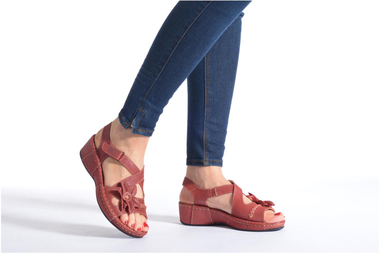 Sandalen TBS Easy Walk Vorael weinrot ansicht von unten / tasche getragen