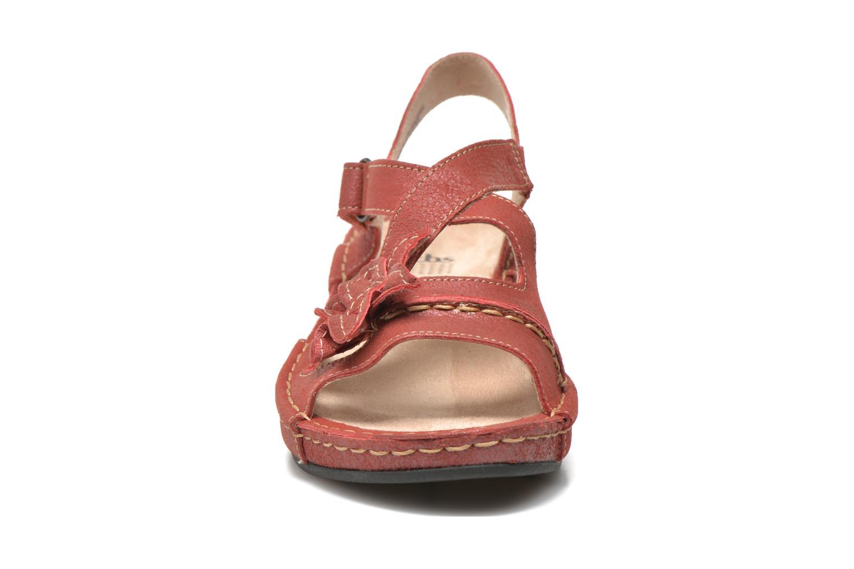 Sandalen TBS Easy Walk Vorael weinrot schuhe getragen