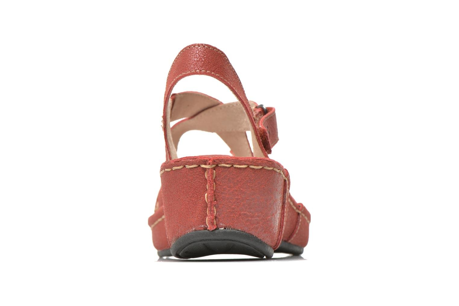 Sandals TBS Easy Walk Vorael Burgundy view from the right