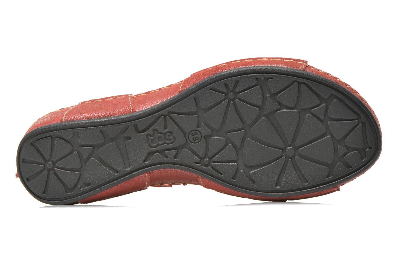 Sandalen TBS Easy Walk Vorael weinrot ansicht von oben