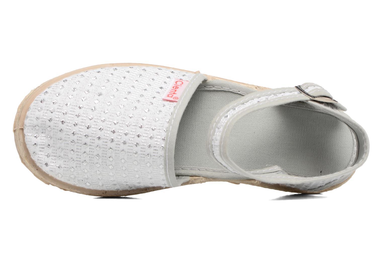 Sandales et nu-pieds Cienta Margot Argent vue gauche