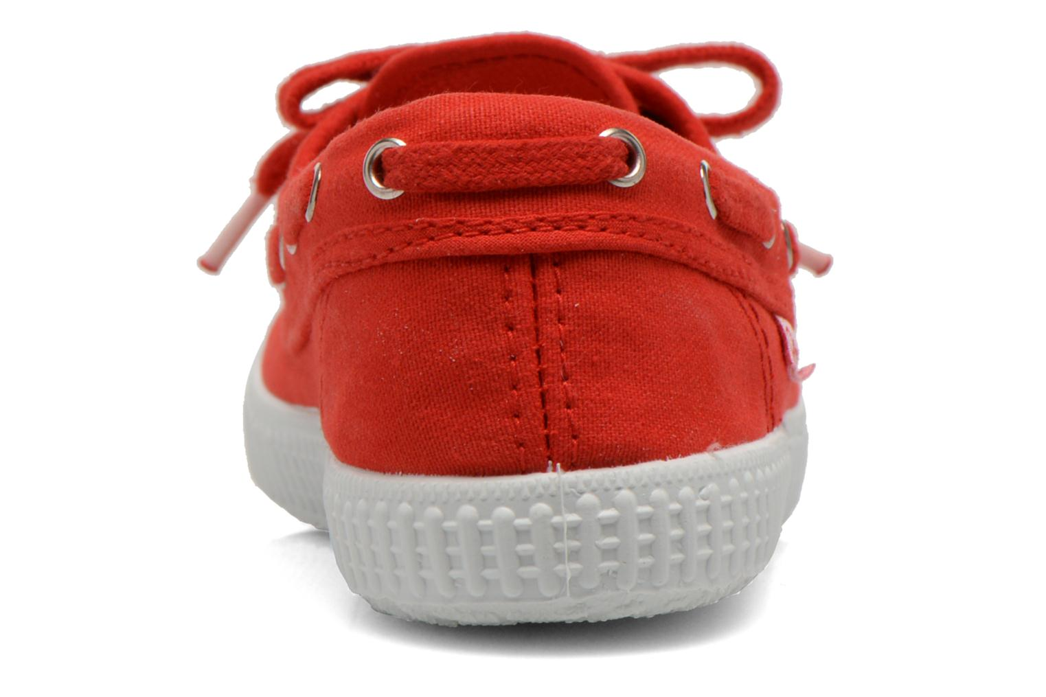 Lace-up shoes Cienta Martino Red view from the right