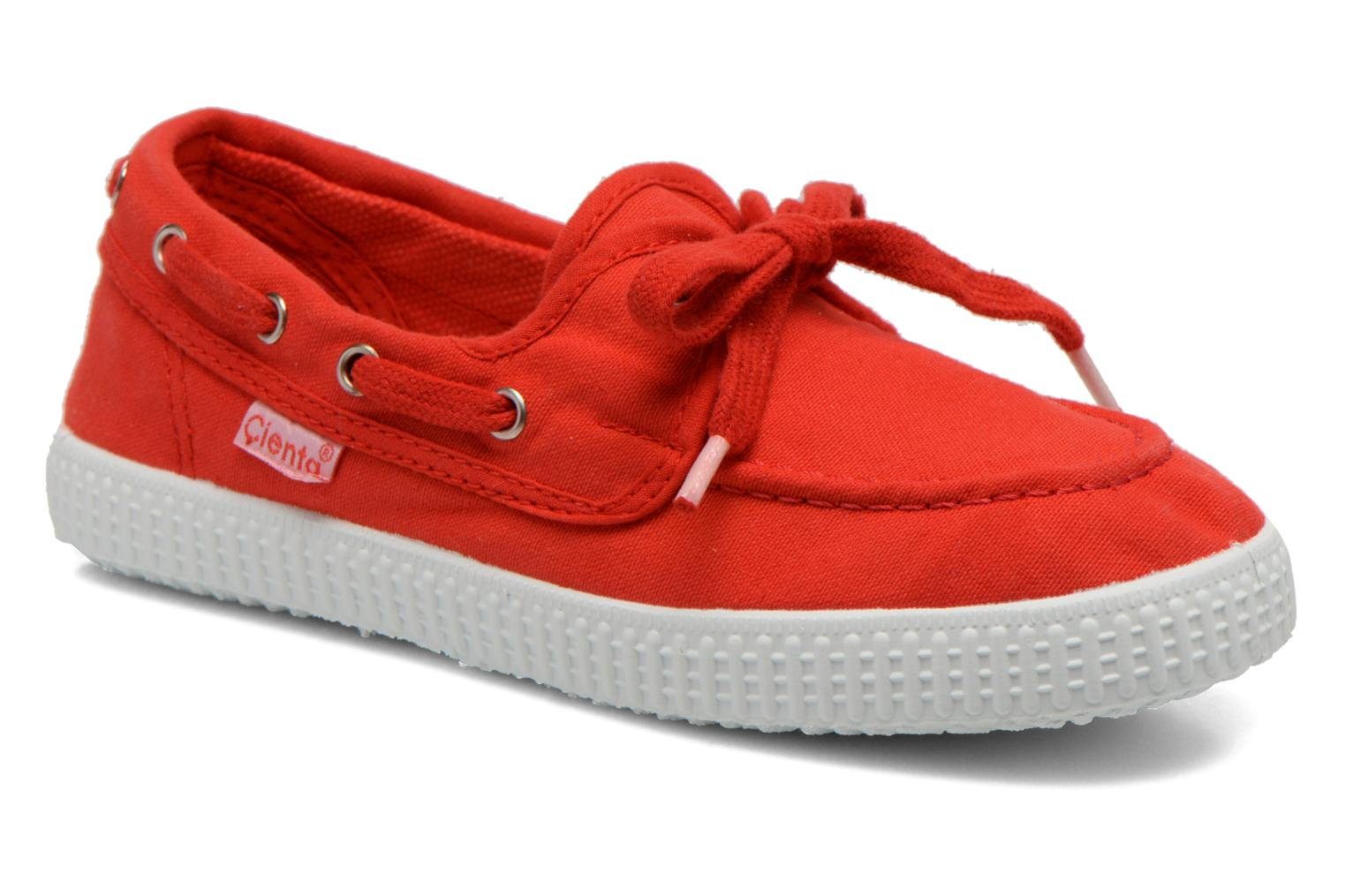 Lace-up shoes Cienta Martino Red detailed view/ Pair view