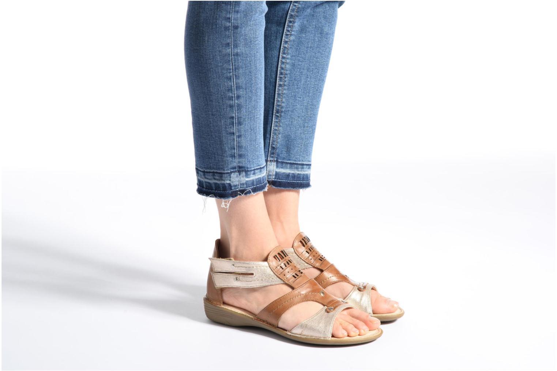 Sandales et nu-pieds Dorking Oda 6769 Bleu vue bas / vue portée sac