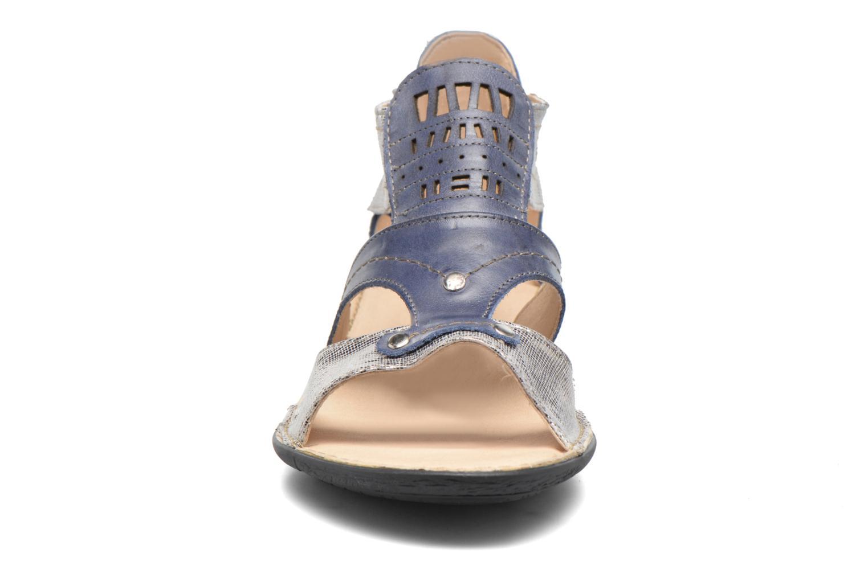 Sandales et nu-pieds Dorking Oda 6769 Bleu vue portées chaussures