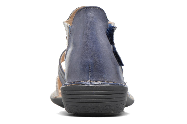 Sandales et nu-pieds Dorking Oda 6769 Bleu vue droite