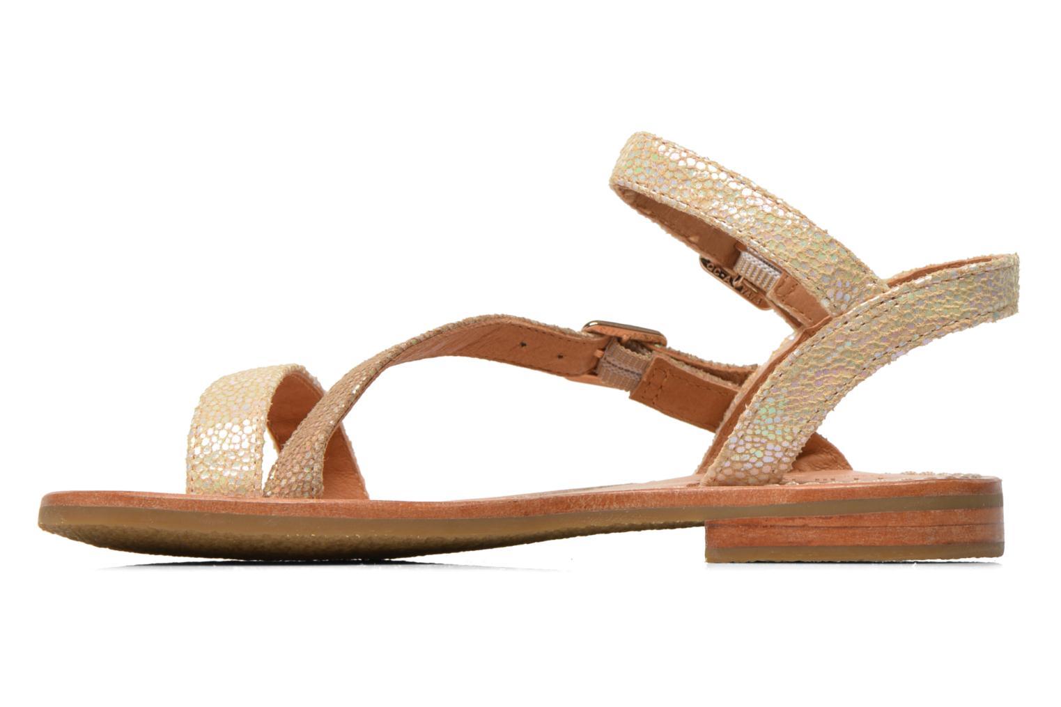 Sandales et nu-pieds Mellow Yellow Mnvaloma Jaune vue face