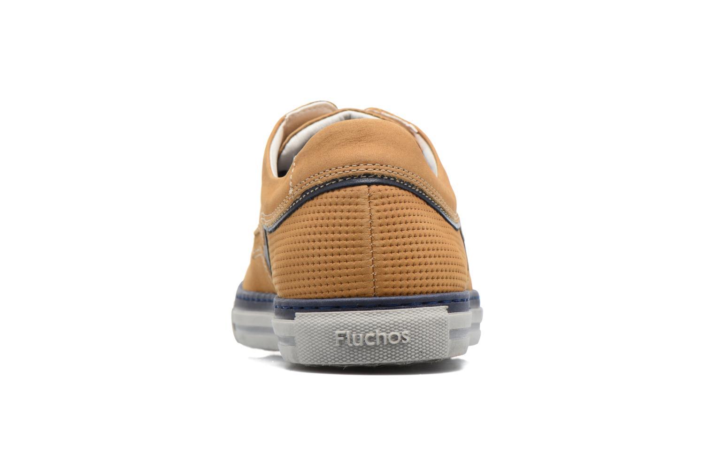 Chaussures à lacets Fluchos Quebec 9369 Jaune vue droite