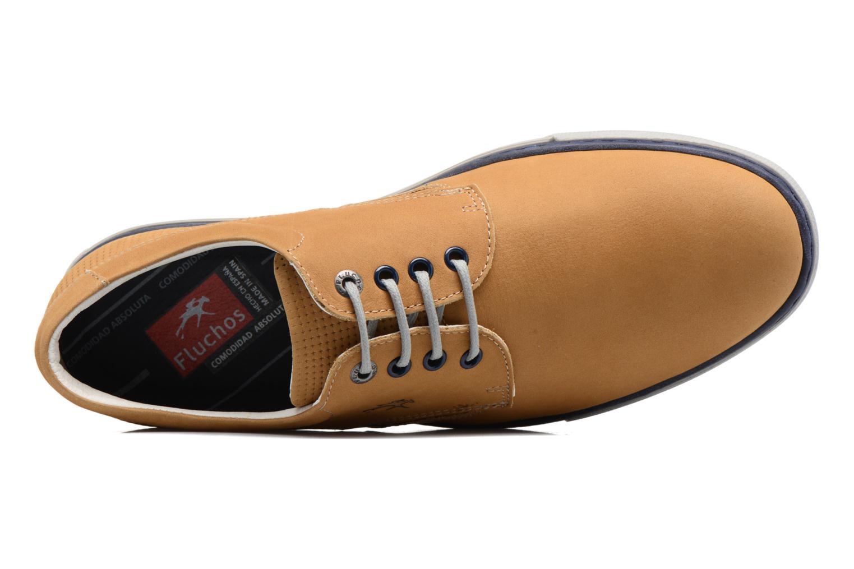 Chaussures à lacets Fluchos Quebec 9369 Jaune vue gauche