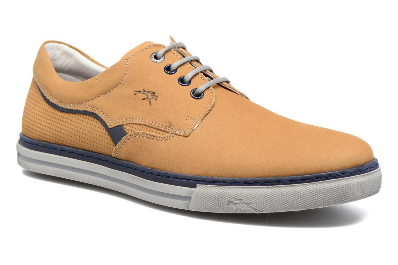 Chaussures à lacets Fluchos Quebec 9369 Jaune vue détail/paire