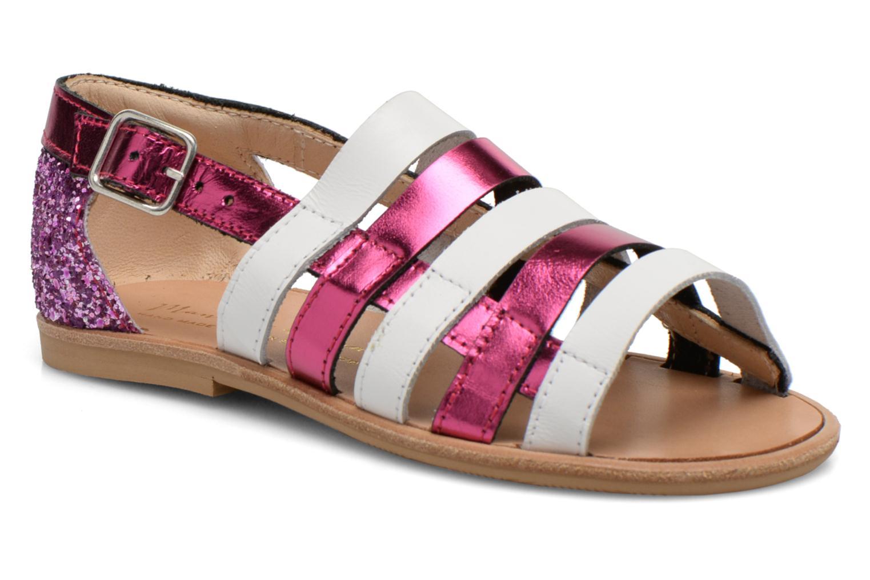 Sandals Manuela de Juan Irina Pink detailed view/ Pair view