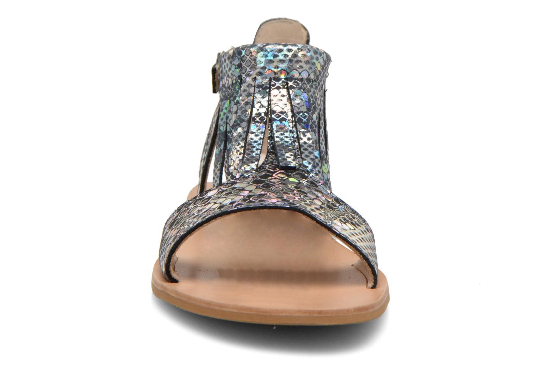 Sandales et nu-pieds Manuela de Juan Sara Argent vue portées chaussures