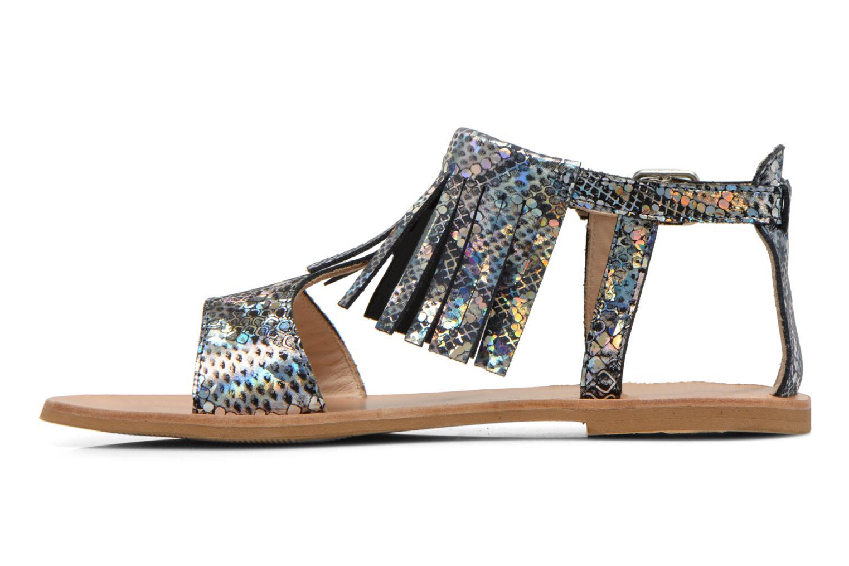 Sandales et nu-pieds Manuela de Juan Sara Argent vue face