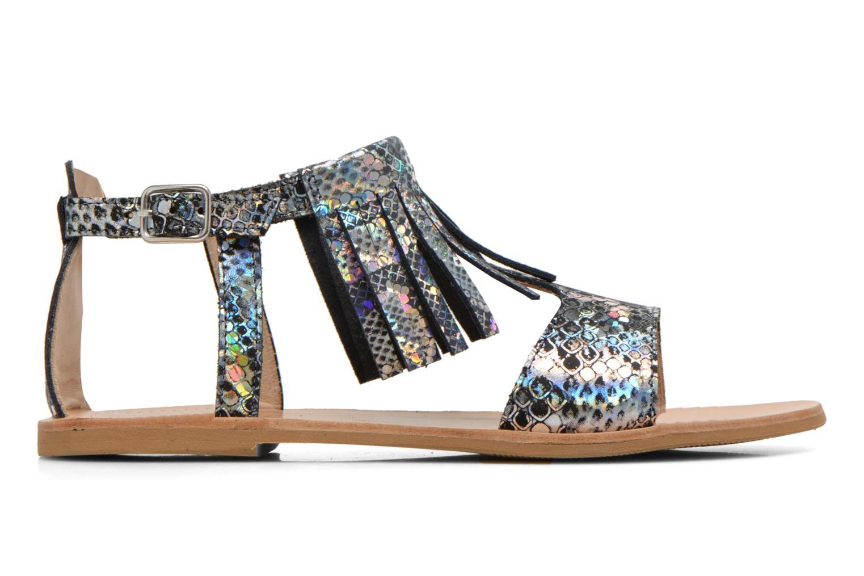 Sandales et nu-pieds Manuela de Juan Sara Argent vue derrière