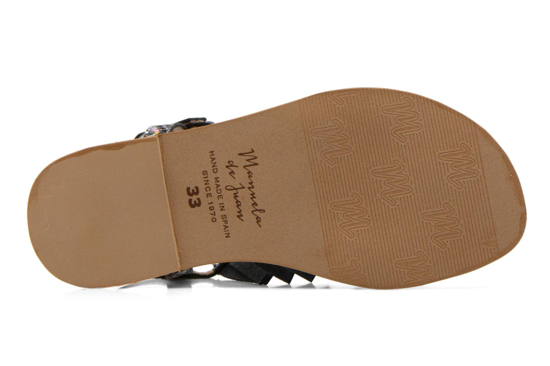 Sandales et nu-pieds Manuela de Juan Sara Argent vue haut
