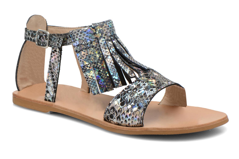 Sandales et nu-pieds Manuela de Juan Sara Argent vue détail/paire