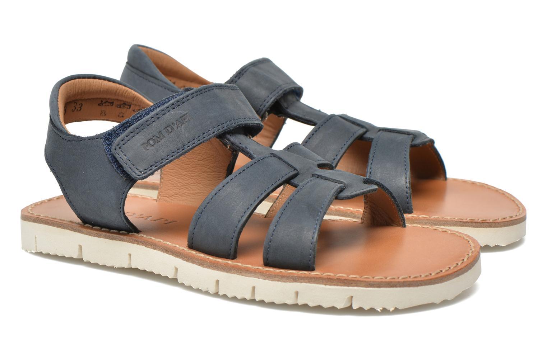 Sandales et nu-pieds Pom d Api Axess Boy Rodeo Bleu vue 3/4