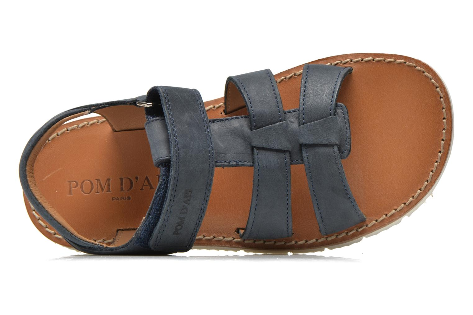 Sandals Pom d Api Axess Boy Rodeo Blue view from the left