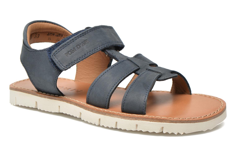 Sandales et nu-pieds Pom d Api Axess Boy Rodeo Bleu vue détail/paire