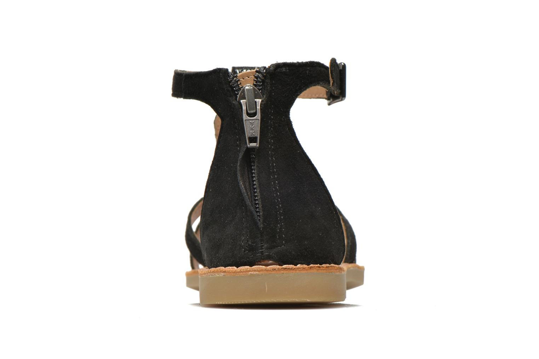 Sandali e scarpe aperte Shwik Lazar Fringe Suede Nero immagine destra