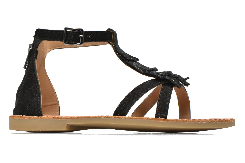 Sandali e scarpe aperte Shwik Lazar Fringe Suede Nero immagine posteriore