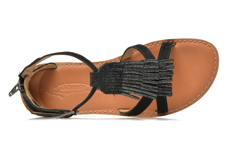Sandali e scarpe aperte Shwik Lazar Fringe Suede Nero immagine sinistra