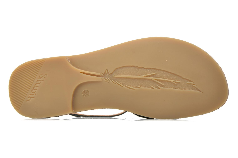 Sandali e scarpe aperte Shwik Lazar Fringe Suede Nero immagine dall'alto