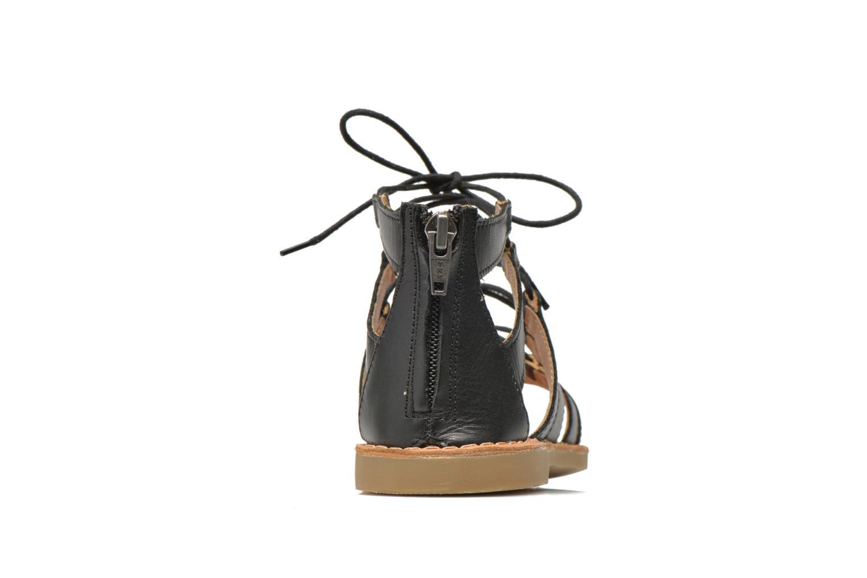 Sandales et nu-pieds Shwik Lazar Hi Lace Noir vue droite