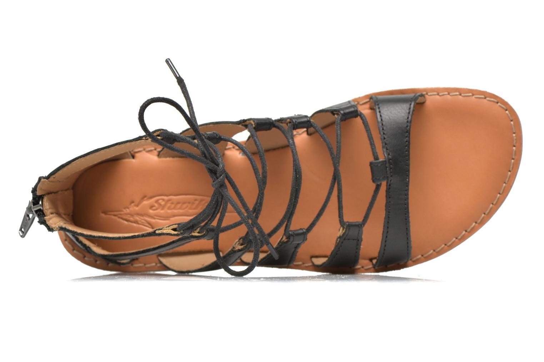 Sandales et nu-pieds Shwik Lazar Hi Lace Noir vue gauche