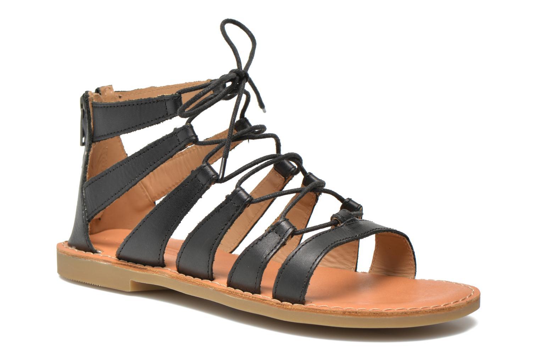 Sandales et nu-pieds Shwik Lazar Hi Lace Noir vue détail/paire