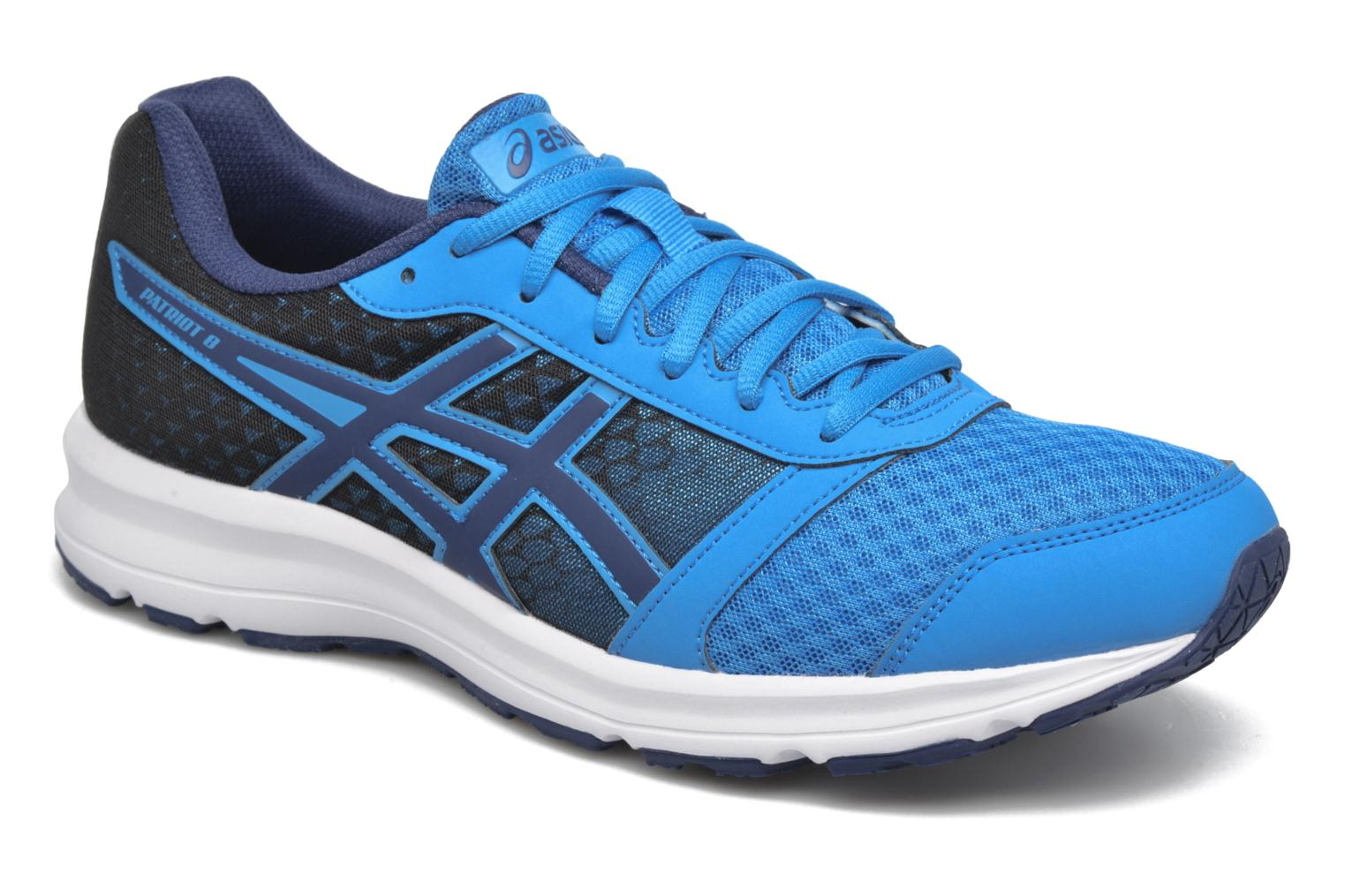 Sport shoes Asics Patriot 8 Blue detailed view/ Pair view