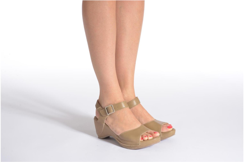 Sandales et nu-pieds Khrio Nuova Beige vue bas / vue portée sac