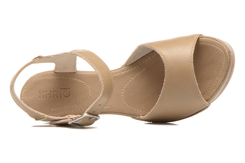 Sandales et nu-pieds Khrio Nuova Beige vue gauche