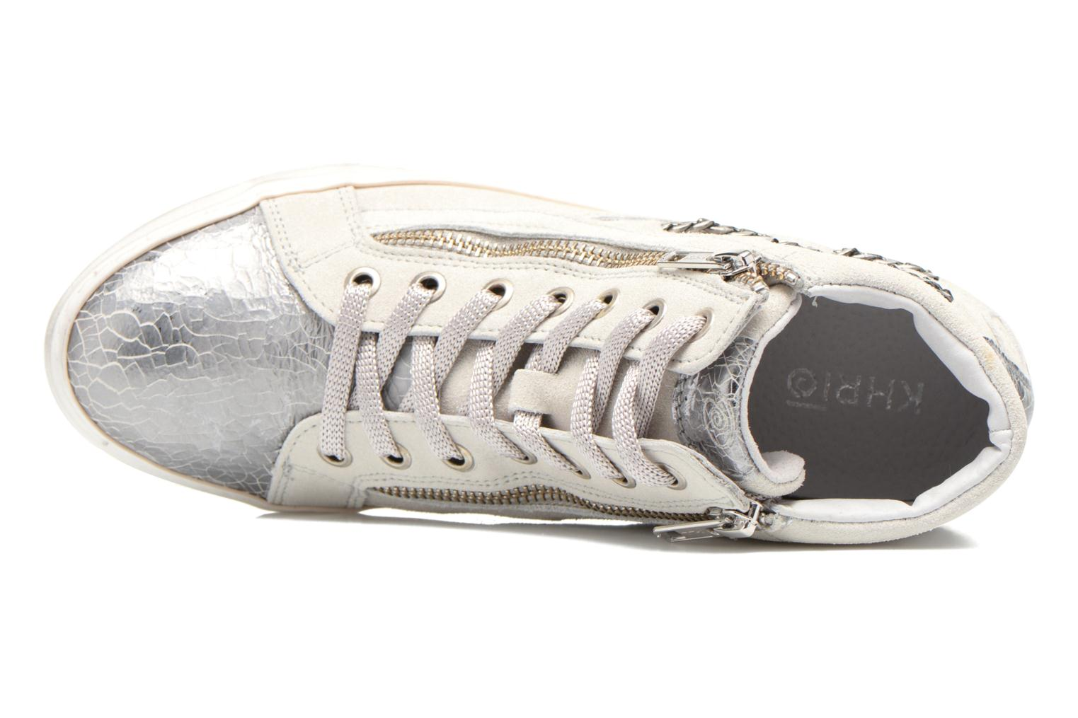 Trainers Khrio Klerviena Silver view from the left