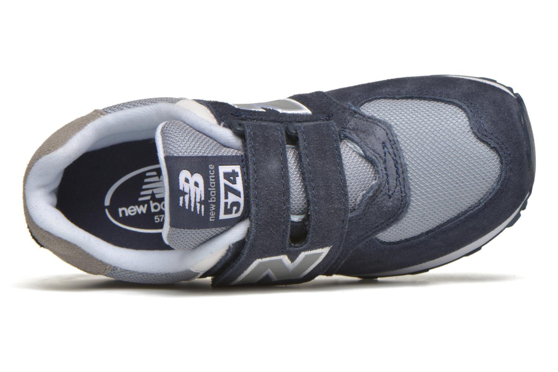 Baskets New Balance KV574 J Bleu vue gauche