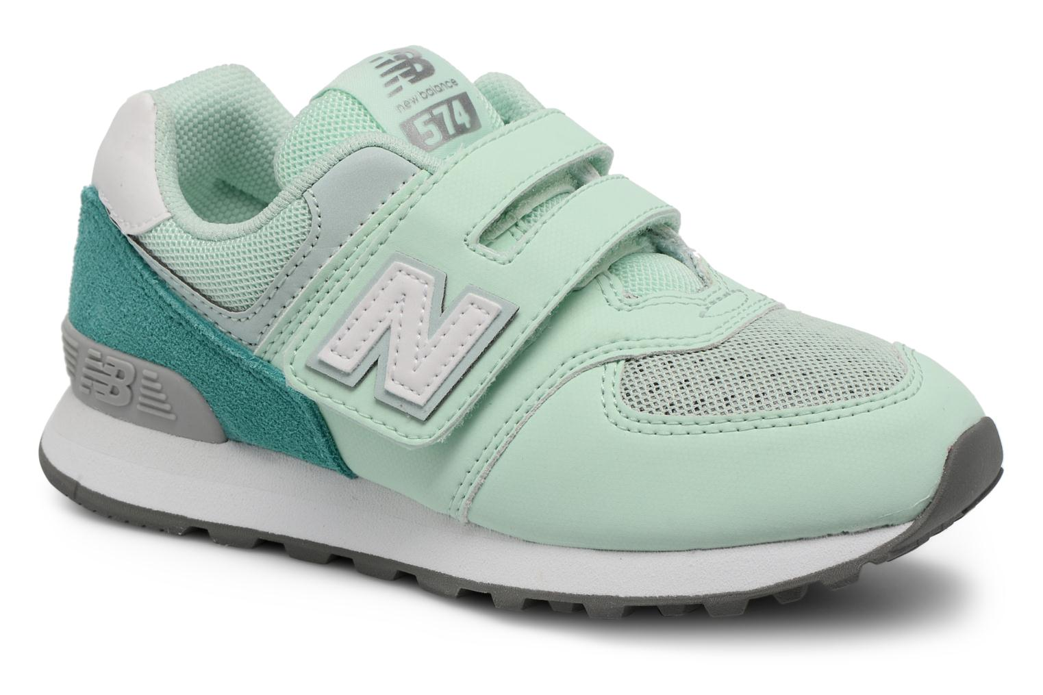 Trainers New Balance KV574 J Green detailed view/ Pair view
